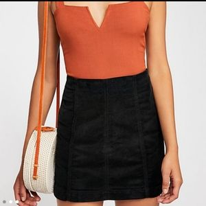 Free people Modern Femme Cord Mini Skirt in Ink
